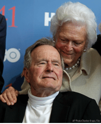 Memes, Pneumonia, and George H. W. Bush: AP Photo/Charles Krupa, File President George H.W. Bush has been discharged from Houston Methodist Hospital after being treated for pneumonia; 'thankful' for prayers and kind messages, spokesman says. GeorgeBush Bush41