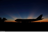 Earlier, the sun rose behind Special Air Mission 41, the plane that will transfer the casket of former President George H.W. Bush to Washington, D.C., in Houston.: AP Photo/Eric Gay Earlier, the sun rose behind Special Air Mission 41, the plane that will transfer the casket of former President George H.W. Bush to Washington, D.C., in Houston.