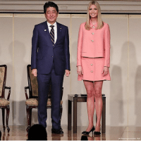 PHOTO: Ivanka Trump and Japanese Prime Minister Shinzo Abe stand together at 'World Assembly for Women: WAW! 2017' conference in Tokyo on Friday.: AP Photo Euane Hoshiko, Phool) PHOTO: Ivanka Trump and Japanese Prime Minister Shinzo Abe stand together at 'World Assembly for Women: WAW! 2017' conference in Tokyo on Friday.
