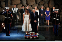 Memes, Holocaust, and Today: AP Photo/Evan Vucci Earlier today in Jerusalem, President DonaldTrump and First Lady MelaniaTrump laid a wreath at Yad Vashem to honor the victims of the Holocaust.