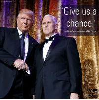 """Today on """"Special Report,"""" Vice President-elect Mike Pence said President-elect Donald Trump is """"determined to be president of all of the people of the United States."""": (AP Photo/Evan Vucci  Give us a  chance  -Vice President-elect Mike Pence Today on """"Special Report,"""" Vice President-elect Mike Pence said President-elect Donald Trump is """"determined to be president of all of the people of the United States."""""""