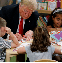 President Donald Trump and the first lady met with children and staff members at Nationwide Children's Hospital in Columbus, Ohio Friday.: AP Photo Evan Vucci President Donald Trump and the first lady met with children and staff members at Nationwide Children's Hospital in Columbus, Ohio Friday.