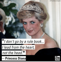 """Alive, Head, and Memes: AP Photo/Herman Knippertz  """"I don't go by a rule book.  / lead from the heart,  not the head.""""  Princess Diana  FOX  NEWS On the 20th anniversary of her death, Princes William and Harry are hoping to keep their mother's legacy alive by trying """"to make a difference"""" through work that would have made Princess Diana proud."""