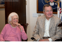Memes, Houston, and Pneumonia: AP Photo/Houston Chronicle, James Nielsen UPDATE: Former First Lady BarbaraBush was discharged from Houston Methodist Hospital after a bout of bronchitis, doctors announce. Former President George H.W. Bush is moving out of the ICU today after a pneumonia scare. GeorgeBush (AP Photo-Houston Chronicle, James Nielsen)