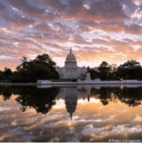 INCREDIBLE: The Capitol is seen at sunrise, in Washington, DC.: AP Photo/J. Scott Applewhite INCREDIBLE: The Capitol is seen at sunrise, in Washington, DC.