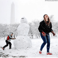 Martin, Memes, and Snow: (AP Photo/Jacquelyn Martin) D.C. SNOW DAY: People in the Washington, D.C. area took advantage of Wednesday's spring snowfall by making snowmen and sledding downhill at the United States Capitol Building.