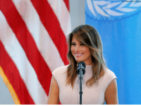 Africa, Melania Trump, and Memes: AP Photo/Jason DeCrow First Lady Melania Trump speaks during a reception at the United States Mission to the United Nations. On Wednesday, she gave remarks regarding her solo trip to Africa, during which she will be visiting Ghana, Malawi, Kenya and Egypt.