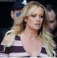 JUST IN: Adult film star Stormy Daniels must pay President Trump $293,000 in legal fees, a federal judge ruled on Tuesday.: AP Photo/Markus Schreiber, File JUST IN: Adult film star Stormy Daniels must pay President Trump $293,000 in legal fees, a federal judge ruled on Tuesday.