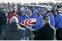 "Nearly 2,000 people in Nebraska attended a funeral Tuesday to pay their respects to a Vietnam War veteran after seeing that his obituary said he had ""no known family."" proudamerican🇺🇸: (AP Photo/Nati Harnik) Nearly 2,000 people in Nebraska attended a funeral Tuesday to pay their respects to a Vietnam War veteran after seeing that his obituary said he had ""no known family."" proudamerican🇺🇸"