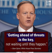 "Memes, Homeland, and 🤖: (AP Photo Pablo Martinez Monsivais)  FOX  NEWS  ""Getting ahead of threats  is the key,  not waiting until they happen.  -Sean Spicer, White House Press Secretary ""The President's not going to wait. He's going to make sure he does everything in his power, when he can, to protect the homeland and its people."" At today's White House briefing, Press Secretary Sean Spicer explained the thought process behind President DonaldTrump's executive orders on immigration and homeland security."