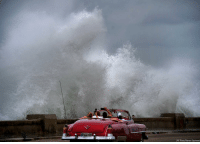 Memes, Waves, and Cuba: (AP Photo/Ramon Espinosal Waves triggered by the outer bands of Hurricane Michael crash against the Malecon in Havana, Cuba.