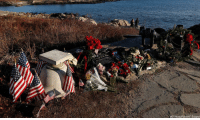 Mourners leave flowers, notes and American flags at a makeshift memorial across from former President George H.W. Bush's summer home in Kennebunkport, Maine.: (AP Photo/Robert F. Bukaty) Mourners leave flowers, notes and American flags at a makeshift memorial across from former President George H.W. Bush's summer home in Kennebunkport, Maine.