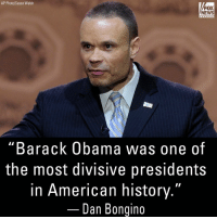 "On Fox & Friends, Dan Bongino blasted former President Barack Obama saying he used identity politics to create division.: AP Photo/Susan Walsh  FOX  NEWS  channe  ""Barack Obama was one of  the most divisive presidents  in American history.""  Dan Bongino On Fox & Friends, Dan Bongino blasted former President Barack Obama saying he used identity politics to create division."