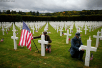 Men in WWI military uniforms pose in the Meuse-Argonne cemetery in France for a remembrance ceremony for the 1918 Meuse-Argonne offensive. It was America's deadliest battle ever that cost 26,000 lives but helped bring an end to World War I.: (AP Photo/Thibault Camus) Men in WWI military uniforms pose in the Meuse-Argonne cemetery in France for a remembrance ceremony for the 1918 Meuse-Argonne offensive. It was America's deadliest battle ever that cost 26,000 lives but helped bring an end to World War I.