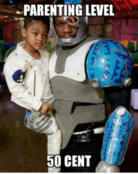 50 Cent, Batman, and Party: APARENTING LEVEL  50 CENT 50 cent dressed up as cyborg at his kids teen Titan go party. You win fitty. -Batman #gothamcitymemes