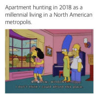 Apartment hunting in 2018 as a  millennial living in a North American  metropolis.  ohyWOW windows  I don't think I could afford this place