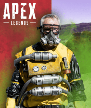 The CEO of Respawn had me (the Wraith cosplayer) turn him into Caustic from Apex Legends! I only had two weeks so please be gentle. ><: APEX  LEGENDS-  TM The CEO of Respawn had me (the Wraith cosplayer) turn him into Caustic from Apex Legends! I only had two weeks so please be gentle. ><
