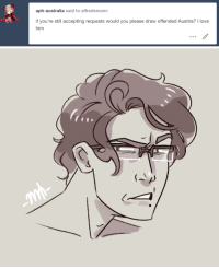 Love, Target, and Tumblr: aph-australia said to alfredsmom:  if you're still accepting requests would you please draw offended Austria? I love  him alfredsmom:  @aph-australia his face when he hears someone claim Mozart is German  (Please do not remove caption/repost/upload to other sites without permission. Thank you.)