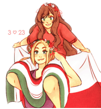 Friends, Target, and Tumblr: aph-lithuania:  i know there are people out there that think poland has no friends (?!? what), but for the rest of you: happy polish/hungarian friendship day! o/ thank u @aph-poland for suggesting the pose!