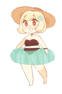 Cute, Target, and Tumblr: aph-lithuania:i wanted to draw summertime tuli again! ; - ; i think finland in a bathing suit as opposed to the usual winter wear is so cute hgfdgjfd