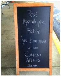 Memes, Waves, and Fictional: Apocalyptic  Fiction  aan mmed  to Our  CURRENT  Section Title Wave's newsletter: http://bit.ly/2eTPDKt My novel: http://amzn.to/2eTURWw Read 'Purpose' http://amzn.to/2eLmN1f