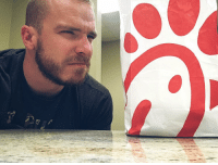 Apparently, Community, and Life: Apparently in this bag lies true oppression and hate......but my Lord the chicken is FANTASTIC!!!!😂😂 On a serious note, @chickfila doesn't discriminate they simply believe what they believe when you ask them point blank! When they start having sexual preference detectors at the door to sniff out the LGBTQ community then come talk to me! truth real life faith