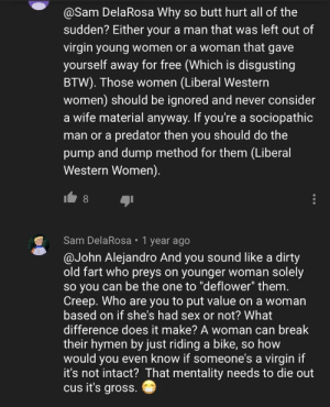 Apparently man only want Virgin and pure woman, and you are probably a slut who gave herself away if you think that is strange ƪ(˘⌣˘)ʃ: Apparently man only want Virgin and pure woman, and you are probably a slut who gave herself away if you think that is strange ƪ(˘⌣˘)ʃ