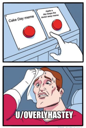 How will I ever decide?: Apple a  day keeps the  doctor away meme  Cake Day meme  U/OVERLYHASTEY How will I ever decide?