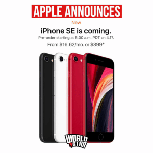Apple announced the iPhone SE for $399 in a virtual unveiling earlier today. The phone is available for preorder on April 17th and should arrive by April 24 according to reports. Will you be getting one? 📱😳🤔 @Apple https://t.co/KnAuKAkkIV: Apple announced the iPhone SE for $399 in a virtual unveiling earlier today. The phone is available for preorder on April 17th and should arrive by April 24 according to reports. Will you be getting one? 📱😳🤔 @Apple https://t.co/KnAuKAkkIV