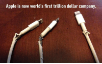 9gag, Apple, and Memes: Apple is now world's first trillion dollar company. Now you know why. Follow @9gag
