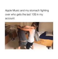 Apple, Music, and Degrassi: Apple Music and my stomach fighting  over who gets the last 10% in my  account binge watching degrassi hun