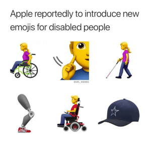 New NFL referee emoji on the top right too... (Credit: memeofnfl): Apple reportedly to introduce new  emojis for disabled people  @NFL MEMES New NFL referee emoji on the top right too... (Credit: memeofnfl)