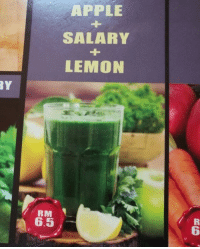 Shut up and take my celery!⠀ -⠀ @takemymoney juice salary 9gag: APPLE  SALARY  LEMON  RY  RM  6.5  6 Shut up and take my celery!⠀ -⠀ @takemymoney juice salary 9gag
