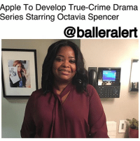 "Apple To Develop True-Crime Drama Series Starring Octavia Spencer - blogged by: @ashleytearra ⠀⠀⠀⠀⠀⠀⠀ ⠀⠀⠀⠀⠀⠀⠀ Apple has green-lit a brand new thriller drama series, and esteemed Oscar award-winning actress OctaviaSpencer is the star of it, Deadline informs. ⠀⠀⠀⠀⠀⠀⠀ ⠀⠀⠀⠀⠀⠀⠀ Created and penned by Nichelle Tramble Spellman, 'Are You Sleeping' will offer ""a unique glimpse into America's obsession with true-crime podcasts and challenge its viewers to consider the consequences when the pursuit of justice is placed on a public stage."" ⠀⠀⠀⠀⠀⠀⠀ ⠀⠀⠀⠀⠀⠀⠀ The forthcoming project is based on a novel by Kathleen Barber, which holds the same name, and will be executive produced by ReeseWitherspoon's content company, Hello Sunshine, Endeavor Content, and Chernin Entertainment. Spellman and Spencer will also serve as a part of the executive producing team. ⠀⠀⠀⠀⠀⠀⠀ ⠀⠀⠀⠀⠀⠀⠀ An official release date hasn't been announced yet. ⠀⠀⠀⠀⠀⠀⠀ ⠀⠀⠀⠀⠀⠀⠀ So far, 2018 is already off to a great start for Octavia Spencer. The ""Hidden Figures"" leading lady is also set to appear in the upcoming film, 'A Kid Like Jake', alongside ClaireDanes.: Apple To Develop True-Crime Drama  Series Starring Octavia Spencer  @balleralert Apple To Develop True-Crime Drama Series Starring Octavia Spencer - blogged by: @ashleytearra ⠀⠀⠀⠀⠀⠀⠀ ⠀⠀⠀⠀⠀⠀⠀ Apple has green-lit a brand new thriller drama series, and esteemed Oscar award-winning actress OctaviaSpencer is the star of it, Deadline informs. ⠀⠀⠀⠀⠀⠀⠀ ⠀⠀⠀⠀⠀⠀⠀ Created and penned by Nichelle Tramble Spellman, 'Are You Sleeping' will offer ""a unique glimpse into America's obsession with true-crime podcasts and challenge its viewers to consider the consequences when the pursuit of justice is placed on a public stage."" ⠀⠀⠀⠀⠀⠀⠀ ⠀⠀⠀⠀⠀⠀⠀ The forthcoming project is based on a novel by Kathleen Barber, which holds the same name, and will be executive produced by ReeseWitherspoon's content company, Hello Sunshine, Endeavor Content, and Chernin Entertainment. Spellman and Spencer will also serve as a part of the executive producing team. ⠀⠀⠀⠀⠀⠀⠀ ⠀⠀⠀⠀⠀⠀⠀ An official release date hasn't been announced yet. ⠀⠀⠀⠀⠀⠀⠀ ⠀⠀⠀⠀⠀⠀⠀ So far, 2018 is already off to a great start for Octavia Spencer. The ""Hidden Figures"" leading lady is also set to appear in the upcoming film, 'A Kid Like Jake', alongside ClaireDanes."