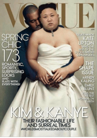 Kate Upton, Memes, and Kale: APR  IE-MADE  SELFIE SPRING  KATE  UPTON  CHIC  AND THE  RISE OF THE  1/3  SOCIAL MEDI  SUPERMODEL  THE  ROMANTIC,  HAPE  SPORTY.  SURPRISING  ISSUE  LOOKS  MINDY  AND  KALING  FLATS WITH  EVERYTHING!  BLUNT  PLU  S THE  FITTEST  WOMAN ON  EARTH  KIM & KANYE  THEIR FASHIONABLE LIFE  AND SURREALTIMES  I'm dying 😂😂