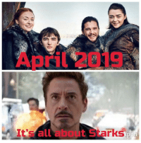 Game of Thrones, Tumblr, and Blog: April 2019  It's all about Starks  pp game-of-thrones-fans:  Spring is coming