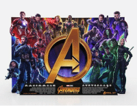 "Instagram, Memes, and Avengers: !""..  APRIL 27 AVENGERS: INFINITY WAR standee in theaters!  Follow MCU on Instagram! https://www.instagram.com/mcuoninsta/  (Andrew Gifford)"