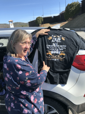 The spare shirt my grandma took out of her car bag: APRIL  I WASBORN WITH  My Heart On My Sleeve  AFIRE IN MY SOUL  A MOD  for understanding The spare shirt my grandma took out of her car bag
