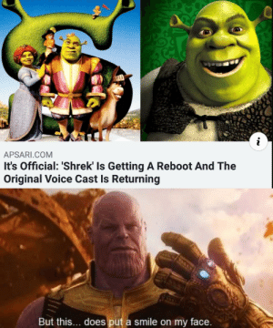 What a time to be alive by AbSilverDominic MORE MEMES: APSARI.COM  It's Official: 'Shrek' Is Getting A Reboot And The  Original Voice Cast Is Returning  But this... does put a smile on my face. What a time to be alive by AbSilverDominic MORE MEMES