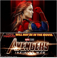 In other news…water is wet. CaptainMarvel was no where to be seen in the New AvengersInfinityWar Concept Art Poster, and now the RussoBrothers have come out and confirmed that BrieLarson will not be making an appearance in Avengers : InfinityWar in 2018. 😞 But there's no reason CarolDanvers can't show up in Avengers4 in 2019 After being introduced to the MCU in her Solo Film ! MarvelCinematicUniverse 💥 @BossLogic: APTAIN WILL NOT BE IN THE MOVIE.  MARVEL STUDIOS  LMEL  IG eDC.MARVEL.UNITE In other news…water is wet. CaptainMarvel was no where to be seen in the New AvengersInfinityWar Concept Art Poster, and now the RussoBrothers have come out and confirmed that BrieLarson will not be making an appearance in Avengers : InfinityWar in 2018. 😞 But there's no reason CarolDanvers can't show up in Avengers4 in 2019 After being introduced to the MCU in her Solo Film ! MarvelCinematicUniverse 💥 @BossLogic