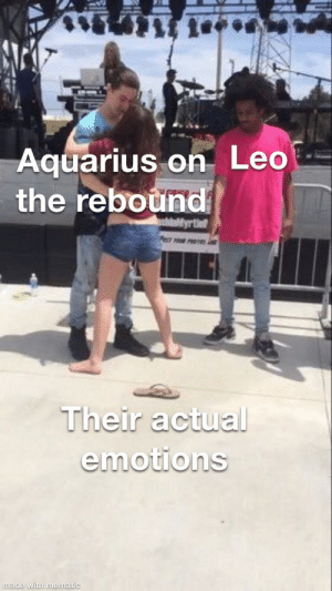 Aquarius becoming co-dependent on one person as a distraction from their actual emotions about another person they actually want to be with.: Aquarius becoming co-dependent on one person as a distraction from their actual emotions about another person they actually want to be with.