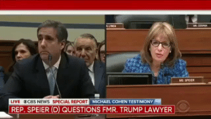 """How many times is Antonio Brown going to do something stupid this year?"" https://t.co/8jvyhd6l3L: AR COOPER  LYNCH  MS. SPEIER  LIVE  CBS NEWS SPECIAL REPORT  REP. SPEIER (D) QUESTIONS FMR. TRUMP LAWYER  MICHAEL COHEN TESTIMONY ""How many times is Antonio Brown going to do something stupid this year?"" https://t.co/8jvyhd6l3L"