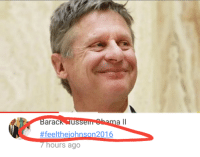 So I was watching a video today of Gary Johnson (the libertarian nominee) when I saw this comment...: arac  US  7 hours ago  a ll  n2016 So I was watching a video today of Gary Johnson (the libertarian nominee) when I saw this comment...