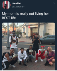 Blackpeopletwitter, Life, and Best: $arahhh  @_sarbearr  My mom is really out living her  BEST life  Jululemon  C1 <p>JEN is living her best life! What you doing with yours ?. 😂😂😂 (via /r/BlackPeopleTwitter)</p>