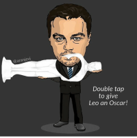 Funny, Oscars, and Taps: aranjevi  Double tap  to give  Leo an Oscar! Double tap, you know you want to (@aranjevi)