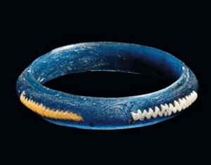Celtic, Tumblr, and Blog: archaicwonder:  Celtic Blue Glass Bracelet, 3rd-2nd Century BC