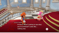 "Life, Tumblr, and Mario: Archivist Toadette  Hi there, Mario! Looking to see what  you've achieved? Looks like..  nothing new <p><a href=""http://sgtscyther.tumblr.com/post/167407254368/when-i-check-what-ive-accomplished-with-my-life"" class=""tumblr_blog"">sgtscyther</a>:</p> <blockquote><p>When I check what I've accomplished with my life</p></blockquote>"