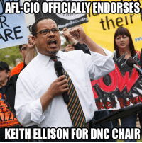 BREAKING: The 12.5 million member AFL-CIO has officially endorsed Keith Ellison For DNC Chairman! http://bit.ly/2hpfw5K: ARE  CIO OFFICIALLYENDORSES  their  KEITH ELLISON FOR DNC CHAIR BREAKING: The 12.5 million member AFL-CIO has officially endorsed Keith Ellison For DNC Chairman! http://bit.ly/2hpfw5K