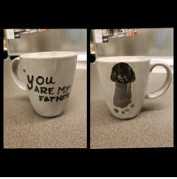 Darth Vader, Funny, and Wife: ARE MY My wife helped our son make me this Darth Vader themed mug