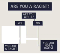 Be Like, White, and Racist: ARE YOU A RACIST?  ARE YOU  WHITE?  YES  NO  YOU ARE  NOT A  YOU ARE  RACIST  A RACIST Mainstream media be like